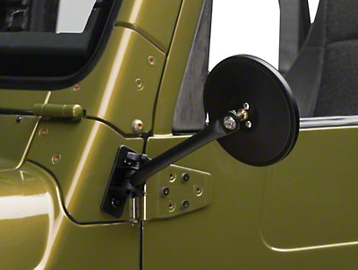 Rugged Ridge Quick Release Textured Black Round Mirrors - Pair (97-06 Wrangler TJ)