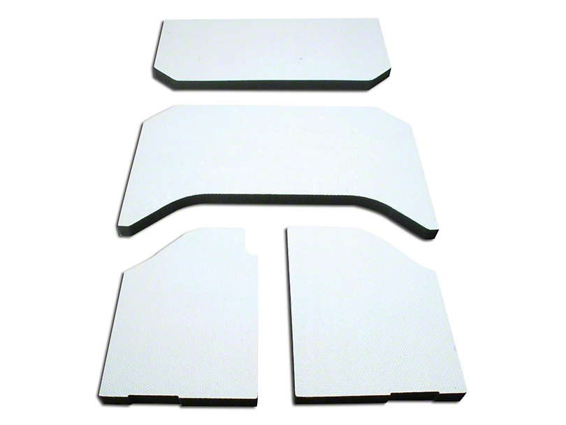Boom Mat Sound Deadening Headliner - White (11-18 Jeep Wrangler JK 4 Door)