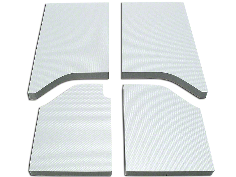 Boom Mat Sound Deadening Headliner - White (11-18 Jeep Wrangler JK 2 Door)