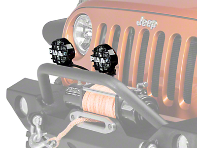 PIAA Series 4 in. Round Xtreme White SMR Lights - Fog Beam - Pair (87-18 Wrangler YJ, TJ & JK)