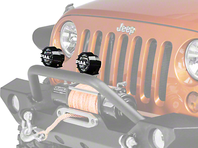 PIAA LP530 3.5 in. Round LED Lights - Fog Beam - Pair (87-17 Wrangler YJ, TJ & JK)