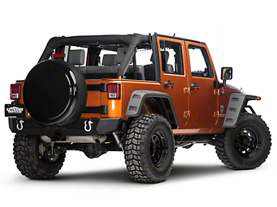 Boomerang 30 in. Rigid Tire Cover - Black (87-18 Wrangler YJ, TJ & JK)