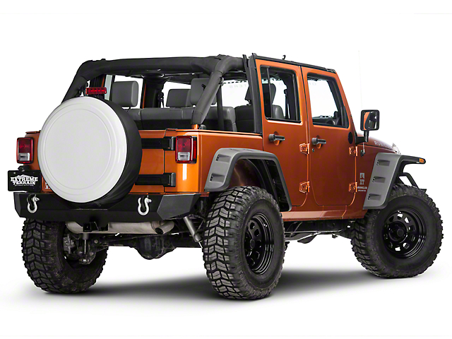 Boomerang 32 in. Rigid Tire Cover - Bright White (87-18 Jeep Wrangler YJ, TJ & JK)