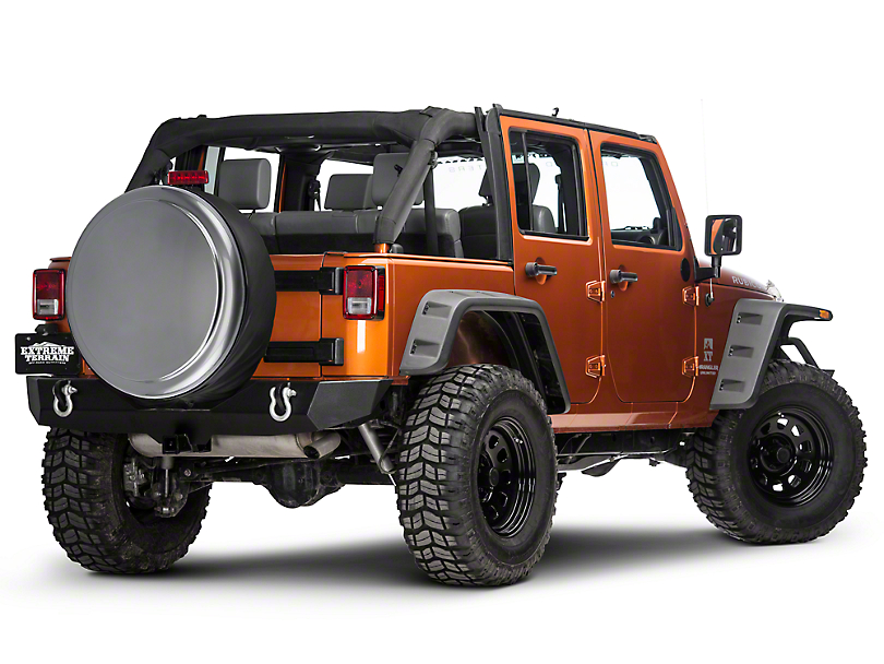 Boomerang 32 in. Rigid Tire Cover - Billet (87-18 Jeep Wrangler YJ, TJ, JK & JL)