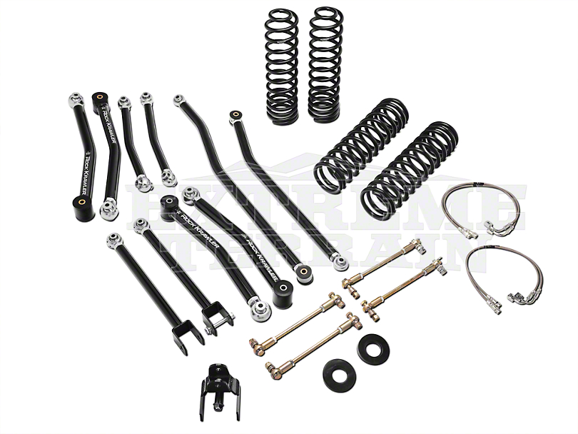 rock krawler jeep wrangler 3 5 in  x factor mid arm system