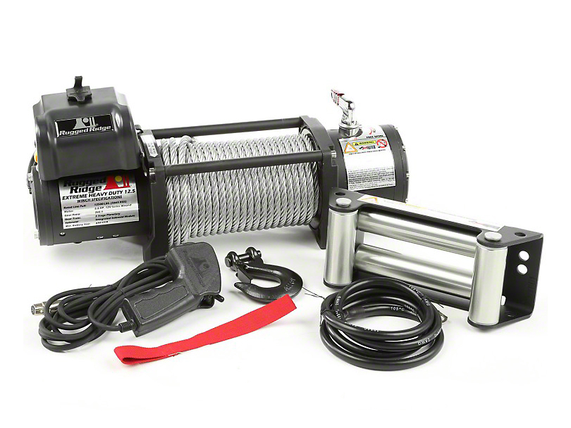 Rugged Ridge Spartacus Heavy Duty 12,500 lb. Winch with Steel Cable