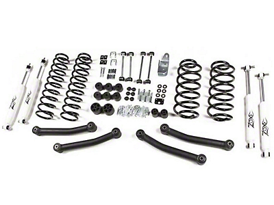 Zone Offroad 4 in. Lift Kit w/ Hydro Shocks (97-02 Wrangler TJ)