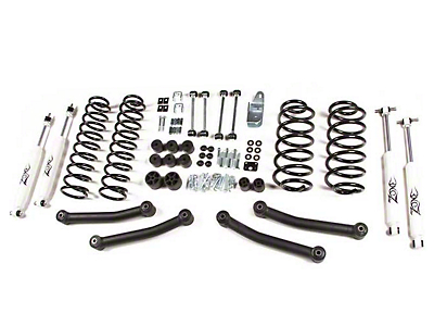 Zone Offroad 4 in. Lift Kit w/ Hydro Shocks (03-06 Wrangler TJ)