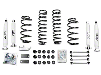 Zone Offroad 4.25 in. Combo Lift w/ Sway Bar Disconnects & Hydro Shocks (97-06 Wrangler TJ)