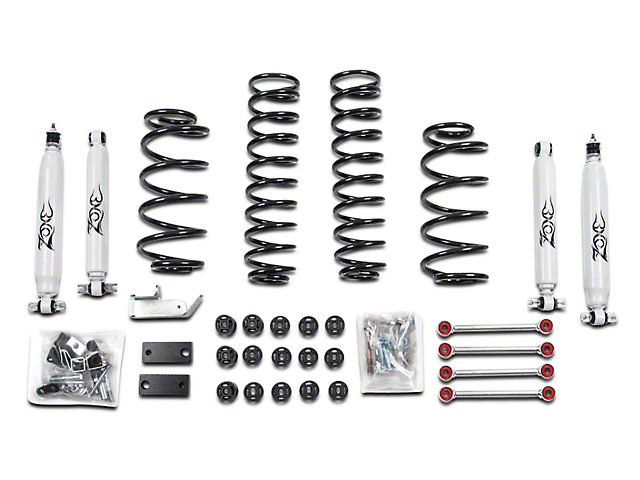 Zone Offroad 4.25 Inch Combo Lift w/ Sway Bar Disconnects & Nitro Shocks (97-06 Jeep Wrangler TJ)