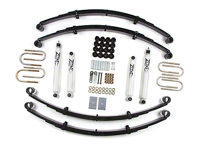 Zone Offroad 2 in. Lift Kit w/ Hydro Shocks (87-95 Wrangler YJ)