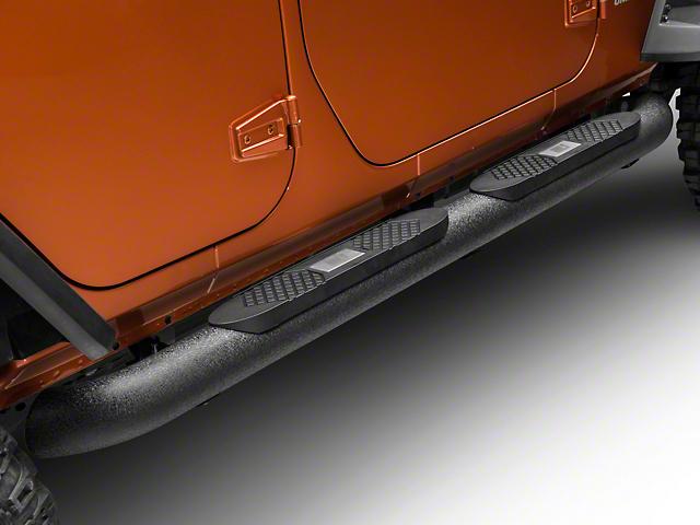 Big Step 4-Inch Round Side Bars (07-18 Jeep Wrangler JK 4 Door)