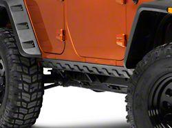 Rugged Ridge Body Armor Smooth Rocker Guard Kit - Black Matte (07-18 Jeep Wrangler JK 4 Door)