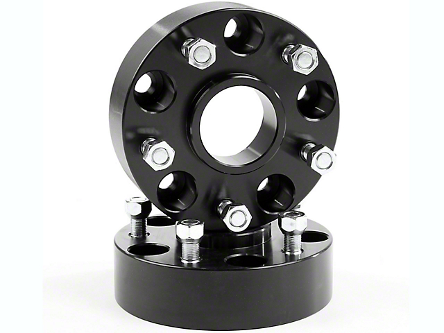 Rugged Ridge 1.75 in. Wheel Spacers - Black (07-18 Jeep Wrangler JK)
