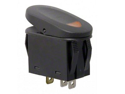 Rugged Ridge Two Position Rocker Switch w/ Indicator Light - Amber (87-19 Jeep Wrangler YJ, TJ, JK & JL)