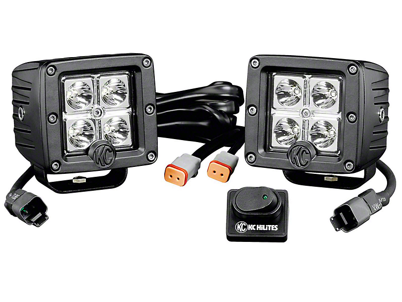 KC HiLiTES 3 in. C-Series C3 LED Light Cube - Spot Beam - Pair