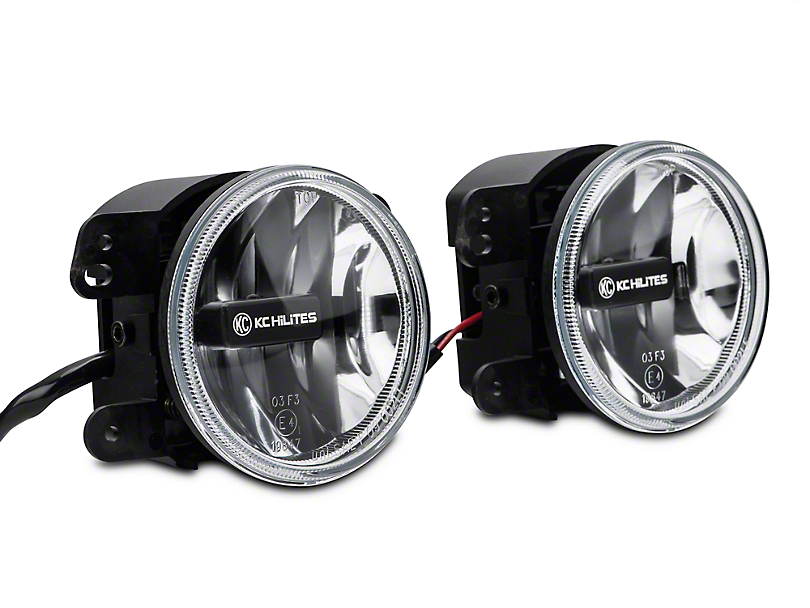KC HiLiTES 4 in. Gravity LED G4 Clear Fog Lights (07-09 Wrangler JK)