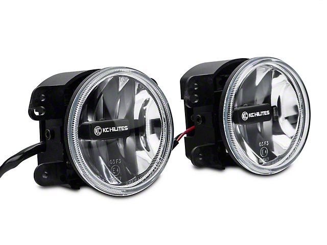 KC HiLiTES 4-Inch Gravity LED G4 Fog Lights; Clear (07-09 Jeep Wrangler JK)