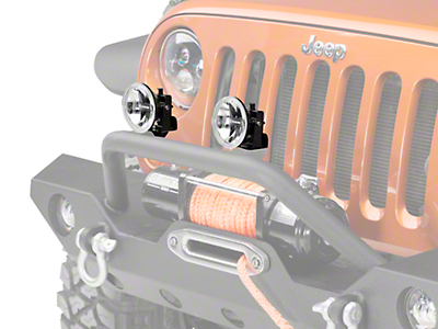 KC HiLiTES 4 in. Gravity G4 Clear LED Lights - Fog Beam - Pair (87-18 Wrangler YJ, TJ & JK)
