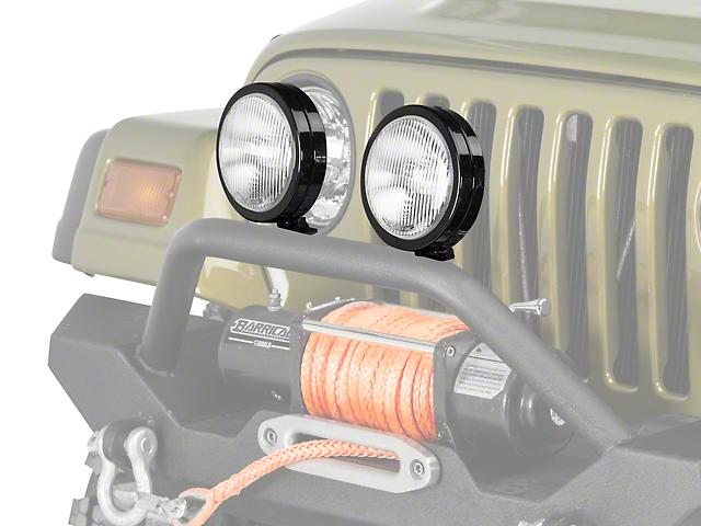 KC HiLiTES 6-Inch Slimlite Halogen Fog Light (97-04 Jeep Wrangler TJ)