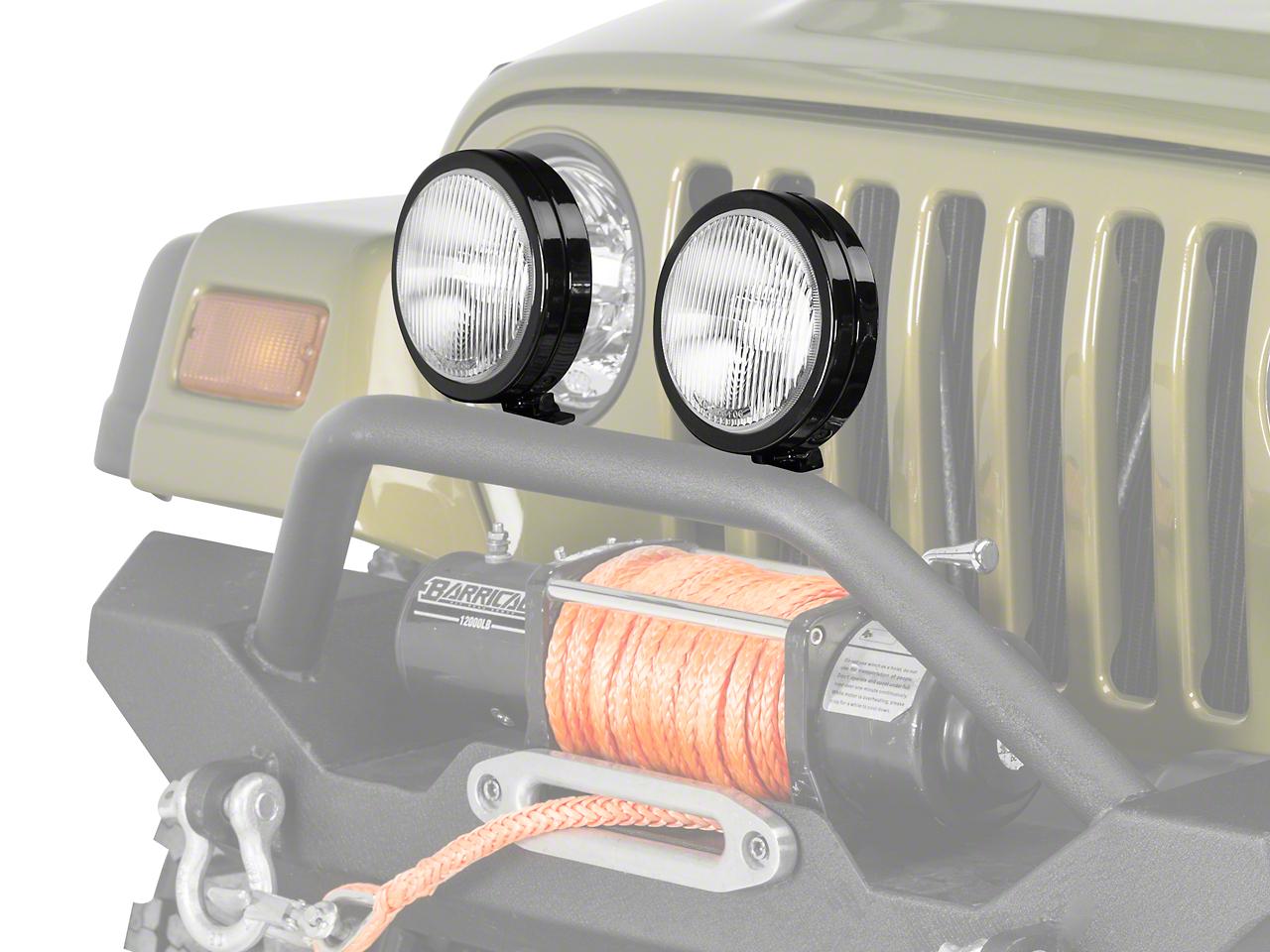 KC HiLiTES 6 in. Slimlite Halogen Replacement Fog Light (97-04 Jeep Wrangler TJ)