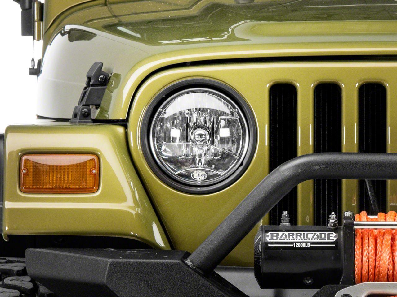 Kc Hilites Jeep Wrangler 7 In Headlight H4 Single 4230 97 06 Jeep Wrangler Tj