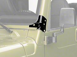 KC HiLiTES Windshield Hinge Mounting Brackets - Black (97-06 Jeep Wrangler TJ)