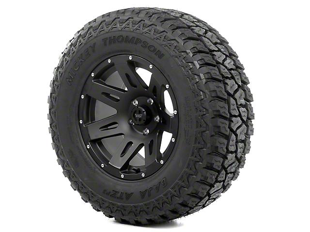 Rugged Ridge XHD Black Satin 17x9 Wheel & Mickey Thompson ATZ P3 305/65R17 Tire Kit (13-18 Jeep Wrangler JK)