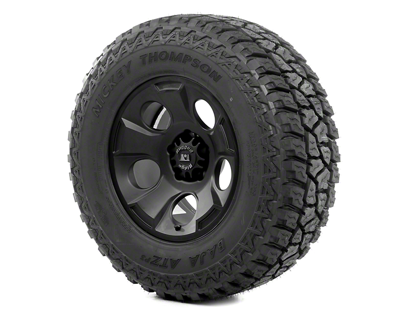 Rugged Ridge Drakon Black Satin 17x9 Wheel & Mickey Thompson ATZ 305/65R17 Tire Kit (13-18 Jeep Wrangler JK)