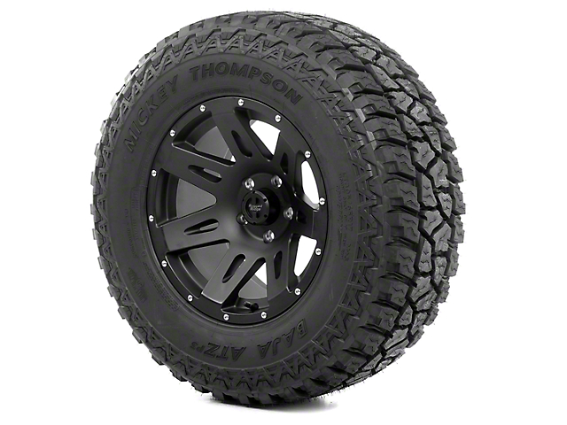 Rugged Ridge XHD Satin Black 17x9 Wheel and Mickey Thompson ATZ P3 315/70R17 Tire Kit (13-18 Jeep Wrangler JK)