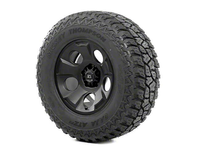 Rugged Ridge Drakon Black Satin 17x9 Wheel & Mickey Thompson ATZ P3 315/70R17 Tire Kit (13-18 Jeep Wrangler JK)