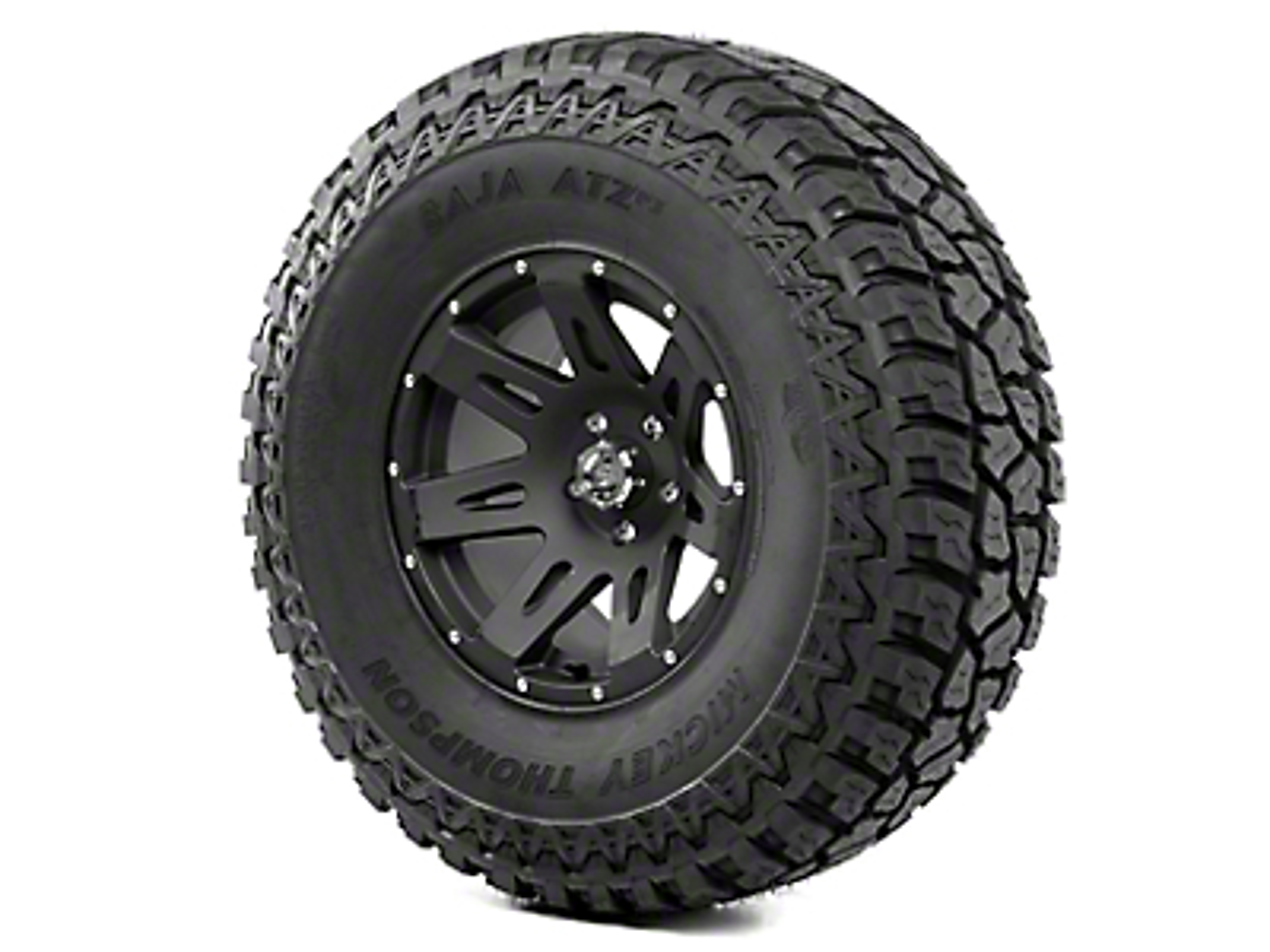 Rugged Ridge XHD Wheel 17x9 Black Satin and Mickey Thompson ATZ P3 37x12.50x17 Tire Kit (07-12 Jeep Wrangler JK)