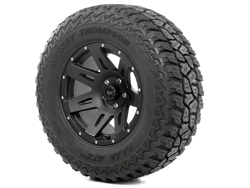 Rugged Ridge XHD Black Satin 17x9 Wheel & Mickey Thompson ATZ P3 315/70R17 Tire Kit (13-18 Jeep Wrangler JK)