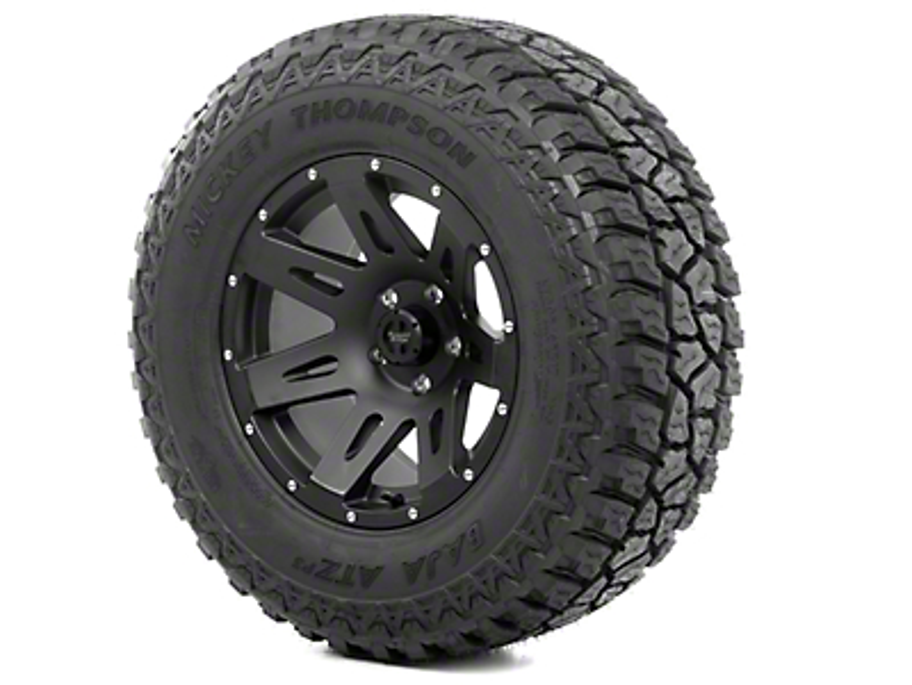 Rugged Ridge XHD Wheel 17x9 Black Satin and Mickey Thompson ATZ P3 315/70R17 Tire Kit (13-18 Jeep Wrangler JK; 2018 Jeep Wrangler JL)