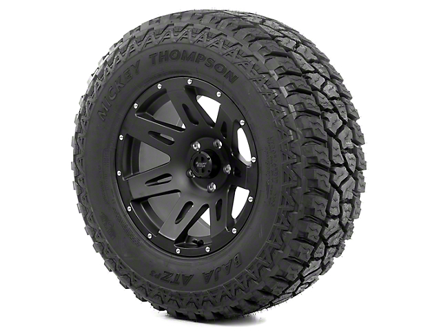 Rugged Ridge XHD Black Satin 17x9 Wheel & Mickey Thompson ATZ P3 305/65R17 Tire Kit (13-18 Jeep Wrangler JK)