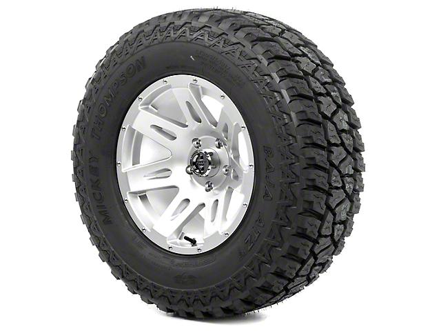 Rugged Ridge XHD Silver 17x9 Wheel & Mickey Thompson ATZ P3 305/65R17 Tire Kit (13-18 Jeep Wrangler JK)