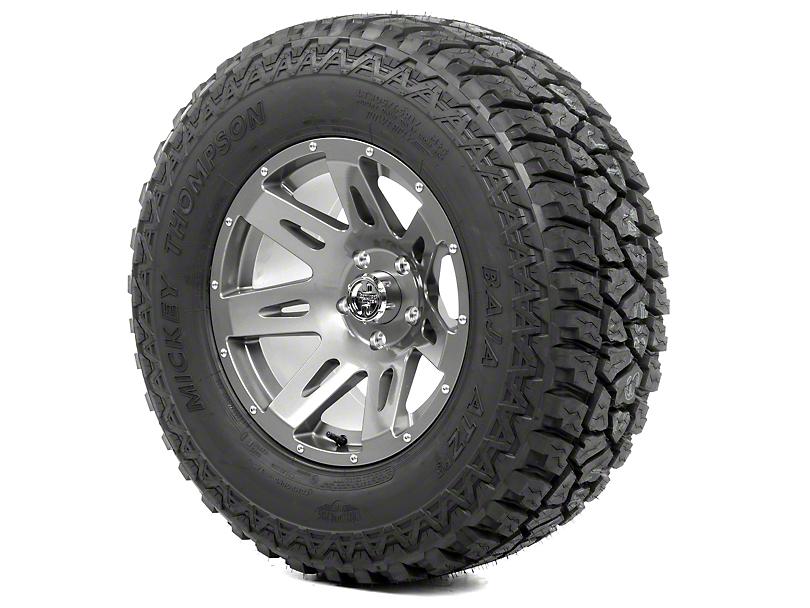 Rugged Ridge XHD Gun Metal 17x9 Wheel & Mickey Thompson ATZ P3 315/70R17 Tire Kit (13-18 Jeep Wrangler JK)