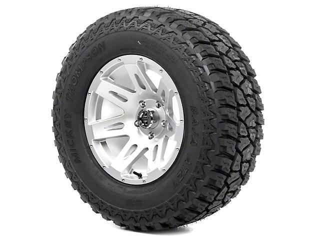 Rugged Ridge XHD Silver 17x9 Wheel & Mickey Thompson ATZ P3 315/70R17 Tire Kit (13-18 Jeep Wrangler JK)