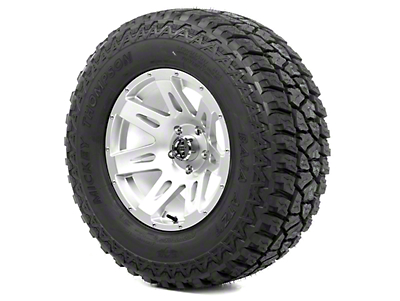 Rugged Ridge XHD Wheel 17x9 Silver and Mickey Thompson ATZ P3 315/70R17 Tire Kit (13-18 Jeep Wrangler JK; 2018 Jeep Wrangler JL)