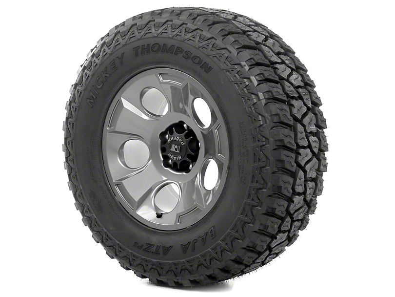 Rugged Ridge Drakon Gun Metal 17x9 Wheel & Mickey Thompson ATZ P3 315/70R17 Tire Kit (13-18 Jeep Wrangler JK)