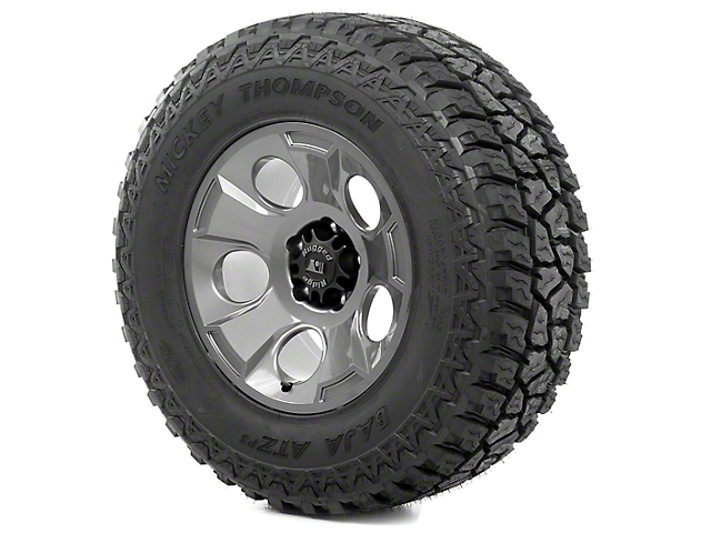 Rugged Ridge Drakon Gun Metal 17x9 Wheel & Mickey Thompson ATZ P3 315/70R17 Tire Kit (13-18 Jeep Wrangler JK)
