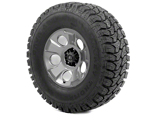 Rugged Ridge Drakon Gun Metal 17x9 Wheel & Mickey Thompson ATZ P3 35x12.50R17 Tire Kit (13-18 Jeep Wrangler JK)