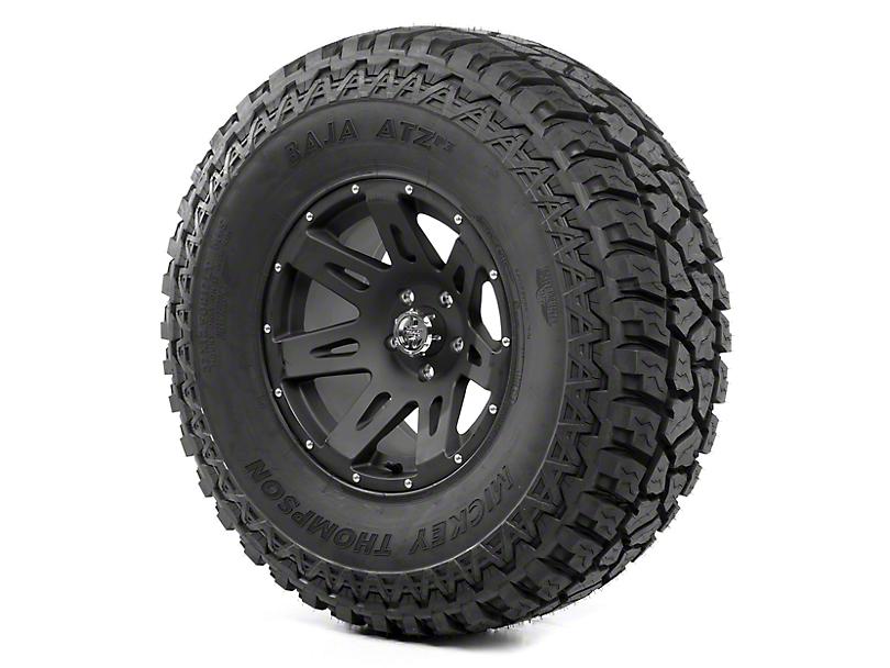 Rugged Ridge XHD Black Satin 17x9 Wheel & Mickey Thompson ATZ P3 37x12.50R17 Tire Kit (13-18 Jeep Wrangler JK)