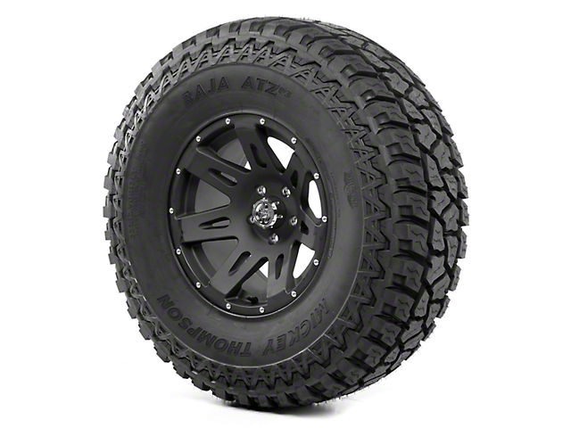 Rugged Ridge XHD Satin Black 17x9 Wheel and Mickey Thompson ATZ P3 37x12.50R17 Tire Kit (13-18 Jeep Wrangler JK)