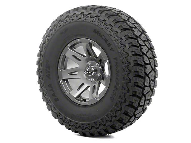 Rugged Ridge XHD Gunmetal 17x9 Wheel and Mickey Thompson ATZ P3 37x12.50R17 Tire Kit (13-18 Jeep Wrangler JK)