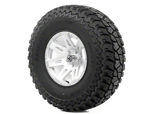 Rugged Ridge XHD Silver 17x9 Wheel & Mickey Thompson ATZ P3 37x12.50R17 Tire Kit (13-18 Jeep Wrangler JK)