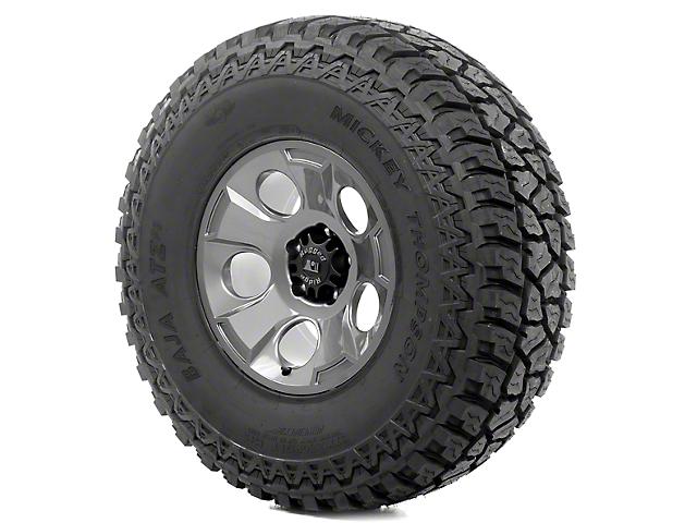 Rugged Ridge Drakon Gun Metal 17x9 Wheel & Mickey Thompson ATZ P3 37x12.50R17 Tire Kit (13-18 Jeep Wrangler JK)