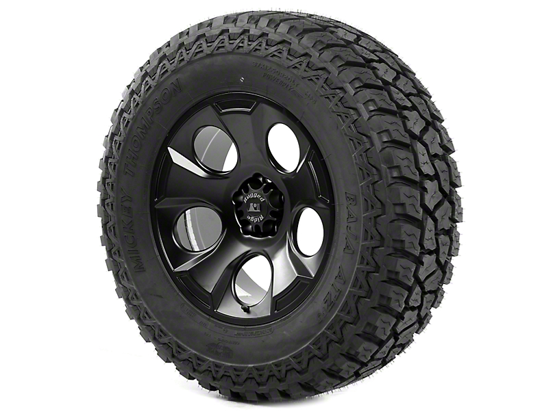 Rugged Ridge Drakon Black Satin 20x9 Wheel & Mickey Thompson ATZ P3 37x12.50R20 Tire Kit (13-18 Jeep Wrangler JK)
