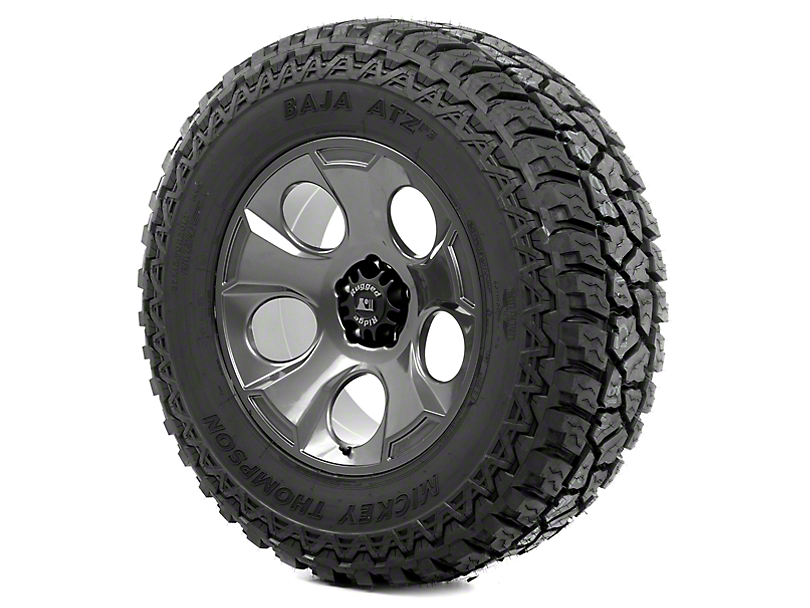 Rugged Ridge Drakon Gun Metal 20x9 Wheel & Mickey Thompson ATZ P3 37x12.50R20 Tire Kit (13-18 Jeep Wrangler JK)