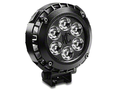 KC HiLiTES 4 in. LZR Round LED Light - Driving Beam (87-18 Wrangler YJ, TJ & JK)
